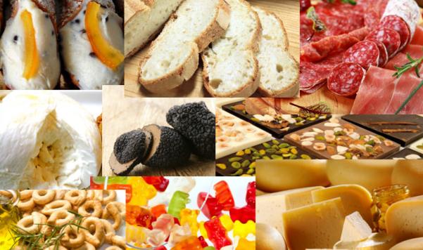 Prodotti tipici regioni italiane